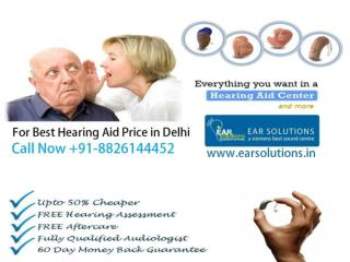 Latest stylish hearing aids in Delhi available with EAR Solutions