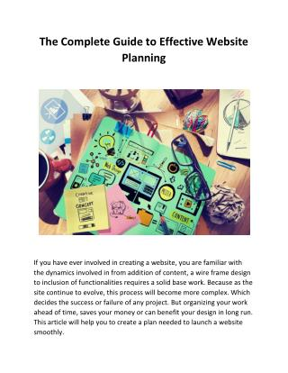 The Complete Guide to Effective Website Planning