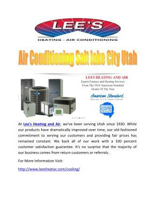Air Conditioning Salt lake City Utah