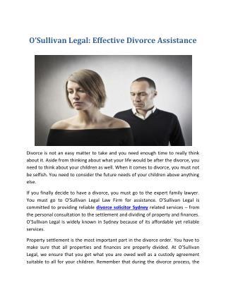O'Sullivan Legal: Effective Divorce Assistance