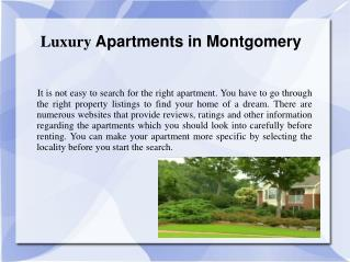 Luxury Apartments in Montgomery