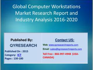 Global Computer Workstations Market 2016 Industry Development, Research, Forecasts, Growth, Insights, Outlook, Study and
