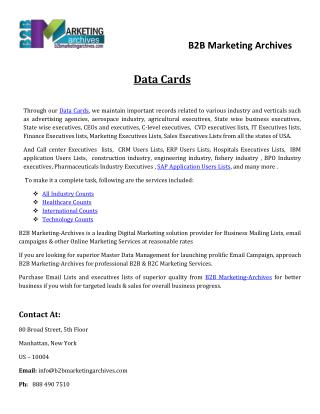 Data Cards - B2B Marketing Archives