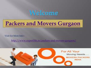 Packers and Movers Gurgaon @ http://www.expert5th.in/packers-and-movers-gurgaon/