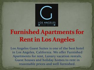 Furnished Apartments for Rent in Los Angeles