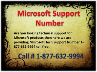 Resolve issues on Microsoft Support Number 1-877-632-9994 toll free