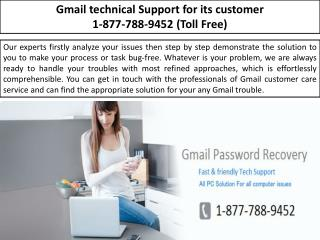 Manage Email Account- GMAIL TECH SUPPORT | 1-877-788-9452