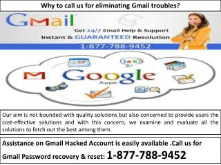 GMAIL TECH SUPPORT 1-877-788-9452- Customer Service 24/7