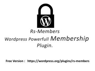 Rs-Member Wordpress Membership plugin