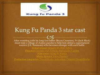 Kung Fu Panda 3 star cast
