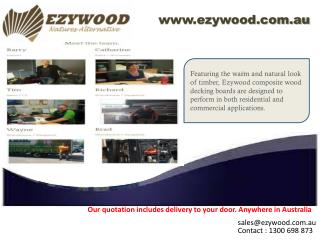 Pool decking materials And Fence screening at ezywood.com.au
