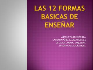 12 formas