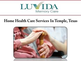 Home Health Care Services In Temple, Texas