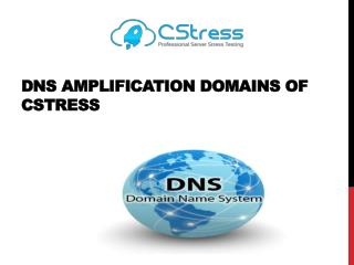 DNS Amplification Domains of Cstress