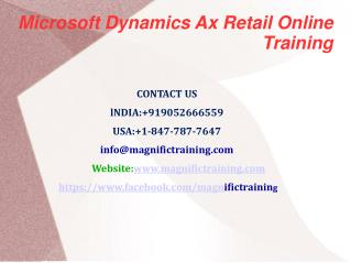 Microsoft Dynamics Ax Retail Online Training in USA