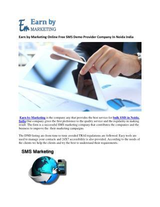 Online bulk Sms Plan in Noida India-earnbymarketing.com