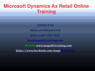 Microsoft Dynamics Ax Retail Online Training in Canada