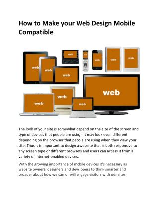 How to Make your Web Design Mobile Compatible