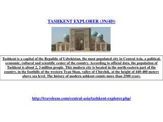 TASHKENT EXPLORER (3N/4D)
