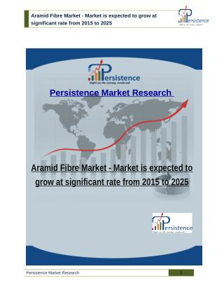 Aramid Fibre Market - Market is expected to grow at significant rate from 2015 to 2025