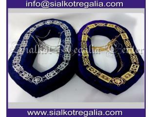 Masonic Blue lodge chain collar Silver