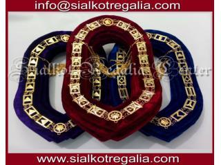 Masonic dress Blue lodge chain collar