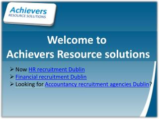 Accountancy recruitment agencies dublin