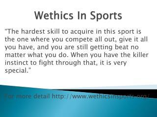 www.wethicsinsports.org