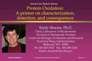 Protein Oxidation: A primer on characterization, detection, and consequences