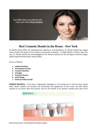 Best Cosmetic Dentist in the Bronx - New York
