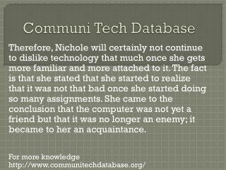 www.communitechdatabase.org