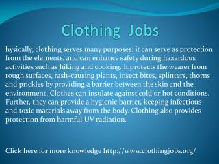 www.clothingjobs.org