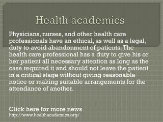 www.healthacademics.org