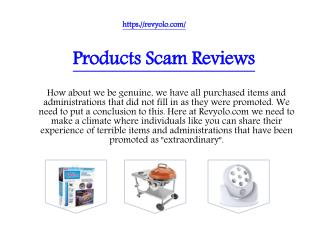 Products Scam Reviews