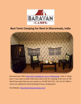 Best Tents Camping For Rent in Dharamsala, India