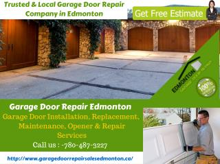 Local Garage Door Installation, Replacement and Repair Service in Edmonton