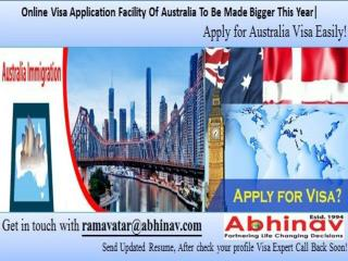 Online Visa Application Facility Of Australia To Be Made Bigger This Year