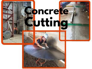 Concrete cutting � let diamond cutting professional handle the tough job!