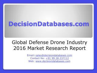 Defense Drone Market Analysis 2016 Development Trends