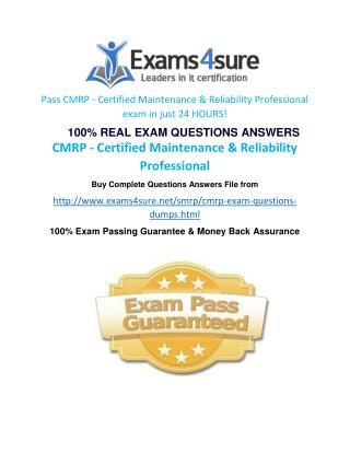 CMRP Practice Questions