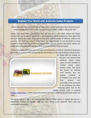 Brighten Your World with Authentic Indian Products