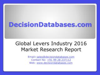 Global Levers Industry- Size, Share and Market Forecasts 2020