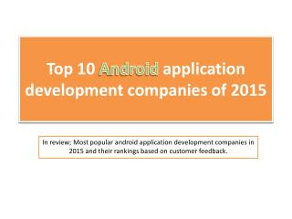 Top 10 android application development companies of 2015