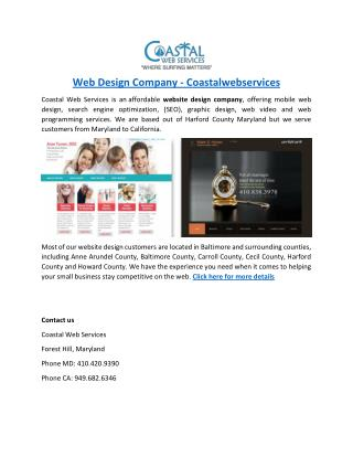 Harford County Website Designers - coastalwebservices