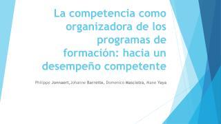 Competencia organizadora