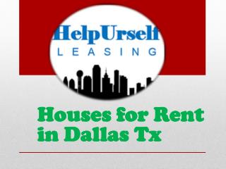 Houses for Rent in Dallas Tx