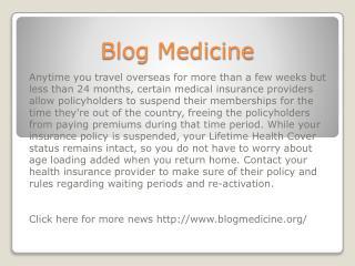 www.blogmedicine.org