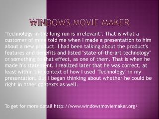 www.windowsmoviemaker.org