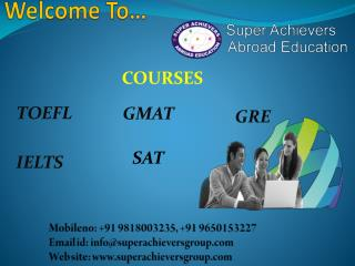 TOEFL Coaching, TOEFL Training in Gurgaon