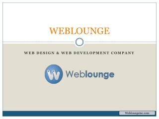 Weblounge – Web Design and Development, Mobile App Development Company